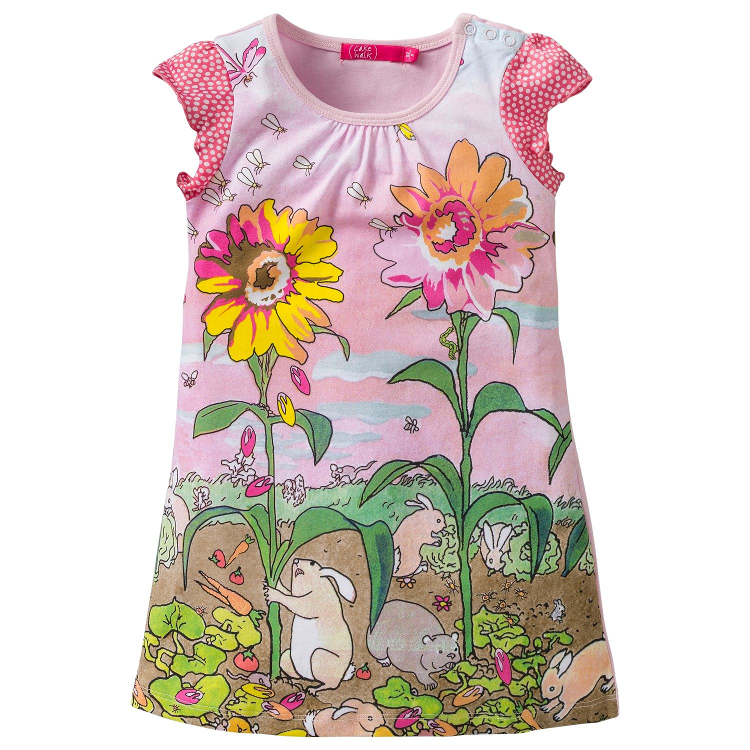 Girl`s rabbit print dress