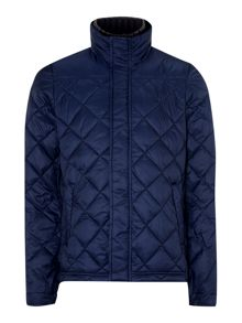 Lightweight diamond quilted jacket with fake inne