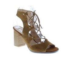Bronx Wood stack heel gilly sandals
