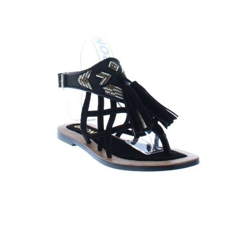 Bronx Strappy flat sandals with tassle