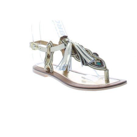 Bronx Strappy toe thong with tassle
