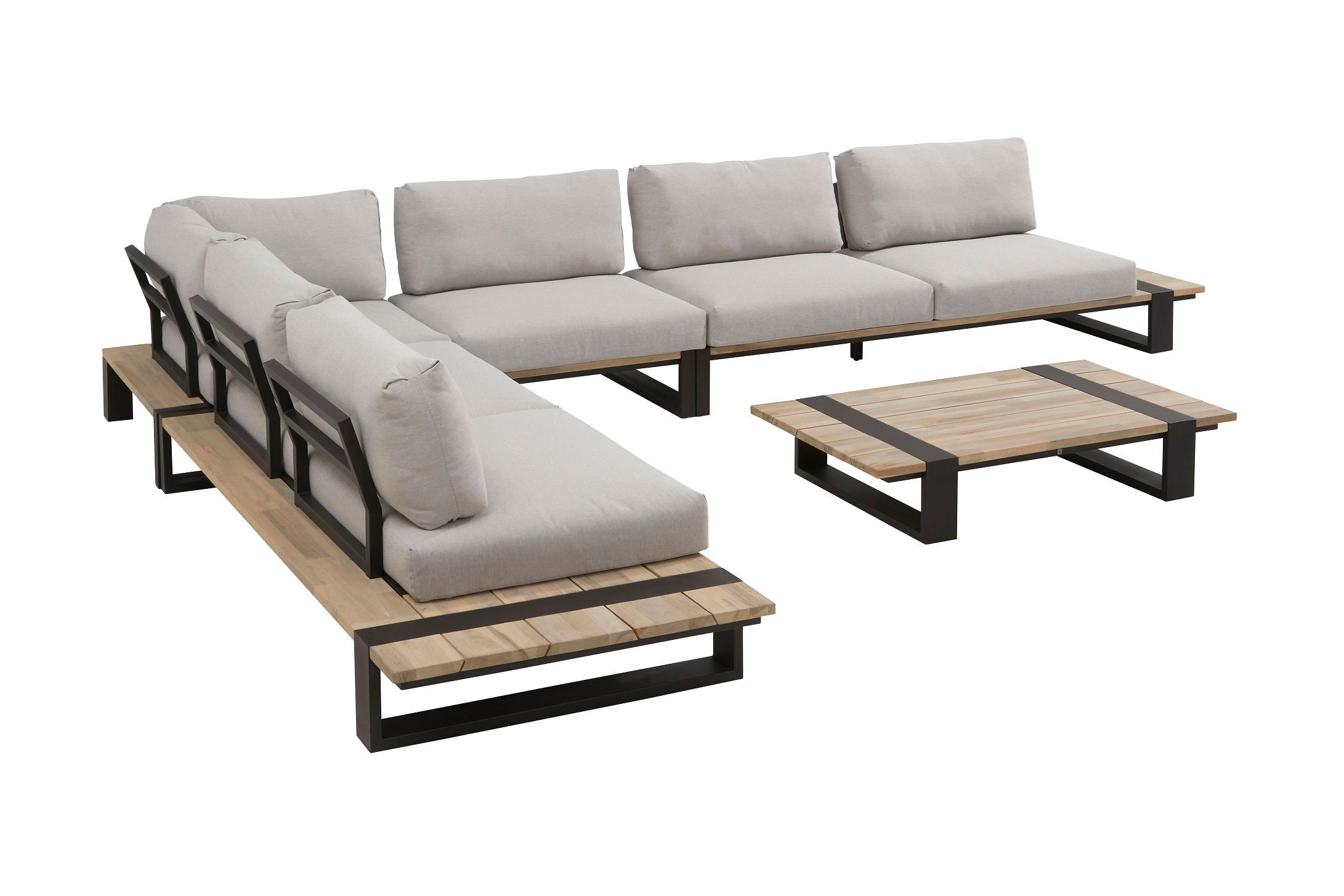 Image of 4 Seasons Outdoor Duke Luxury Corner Set