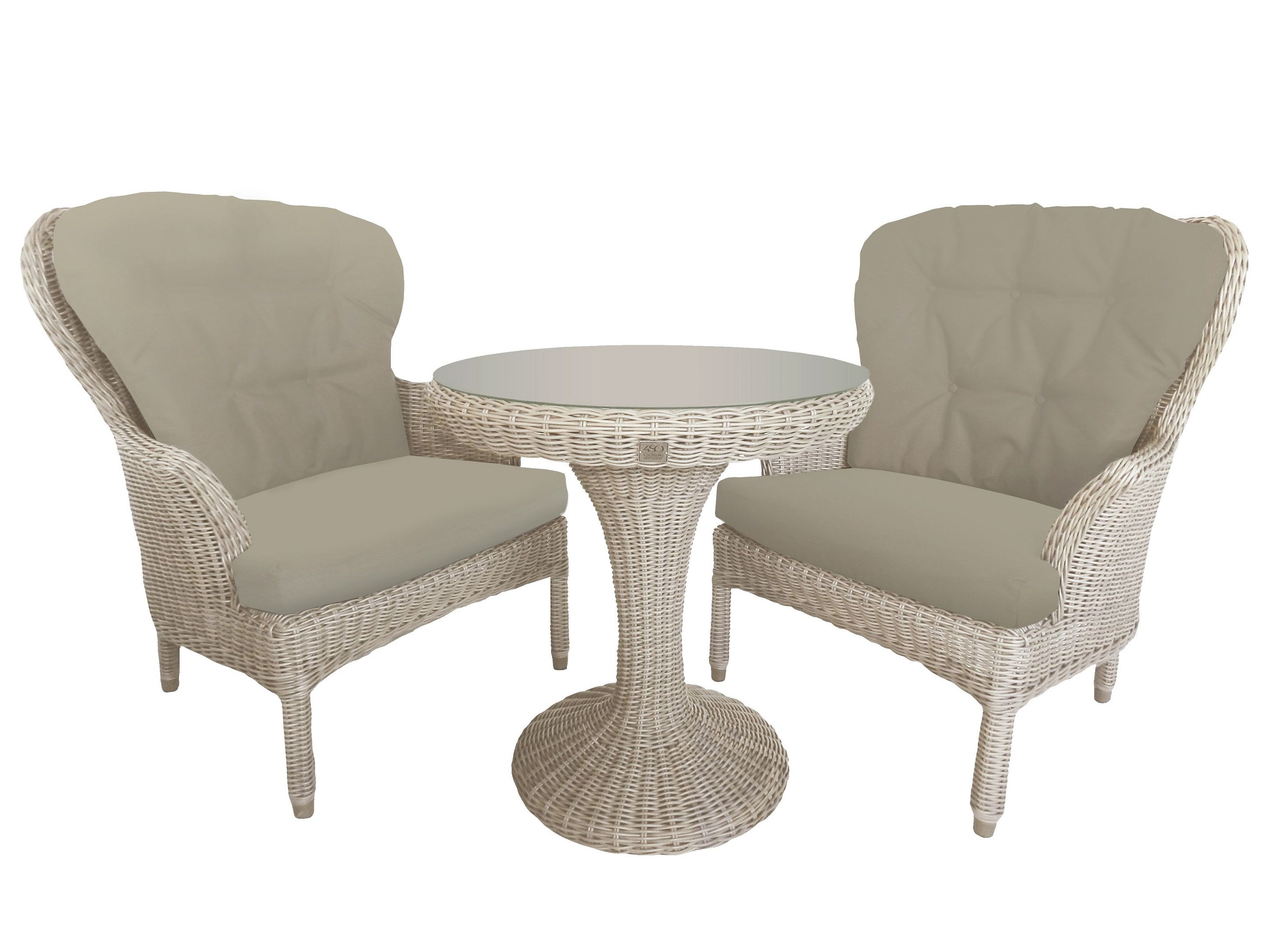 Image of 4 Seasons Outdoor Buckingham Tea For Two Dining Set