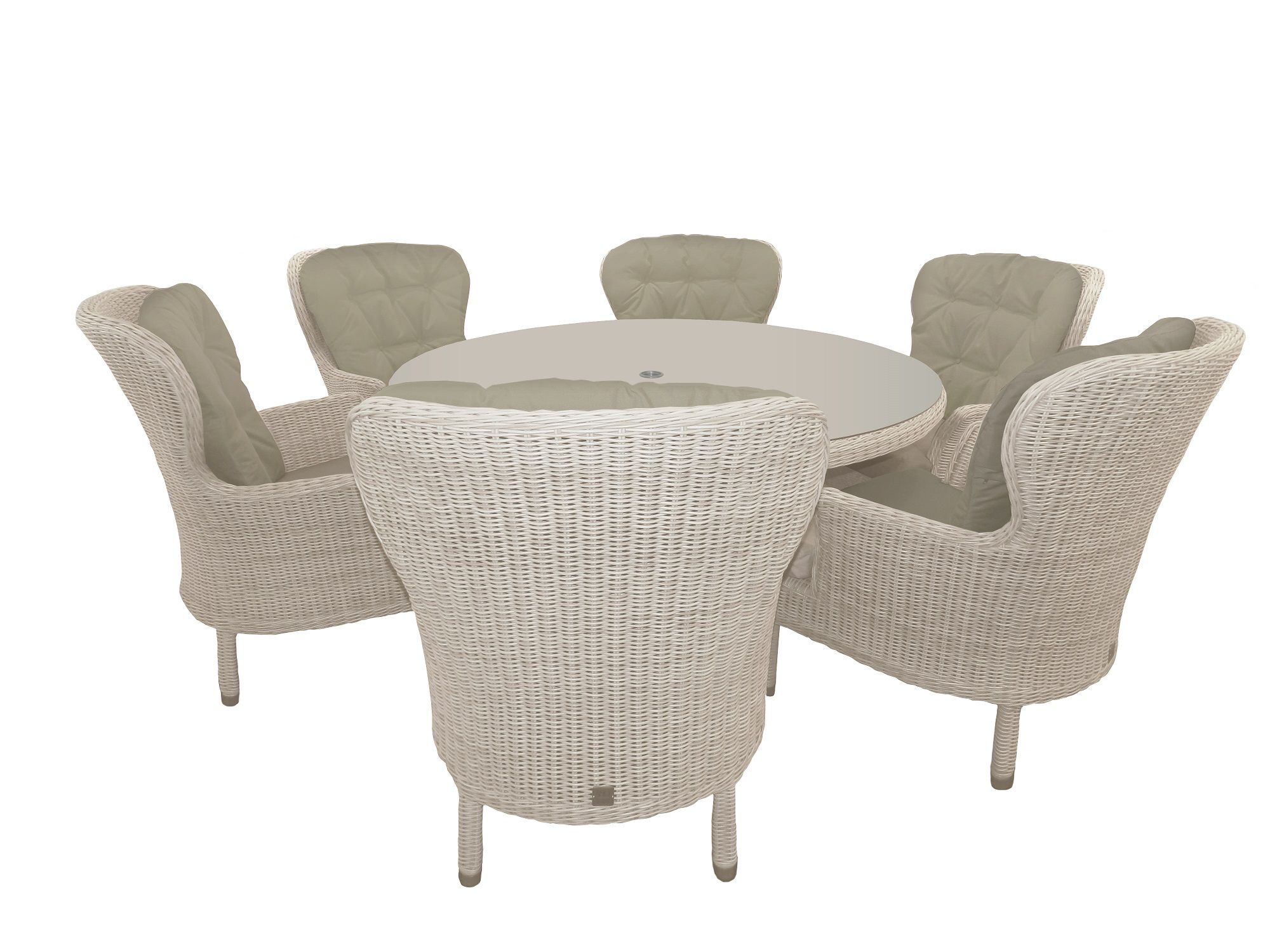 Image of 4 Seasons Outdoor Buckingham 6 Seater Dining Set