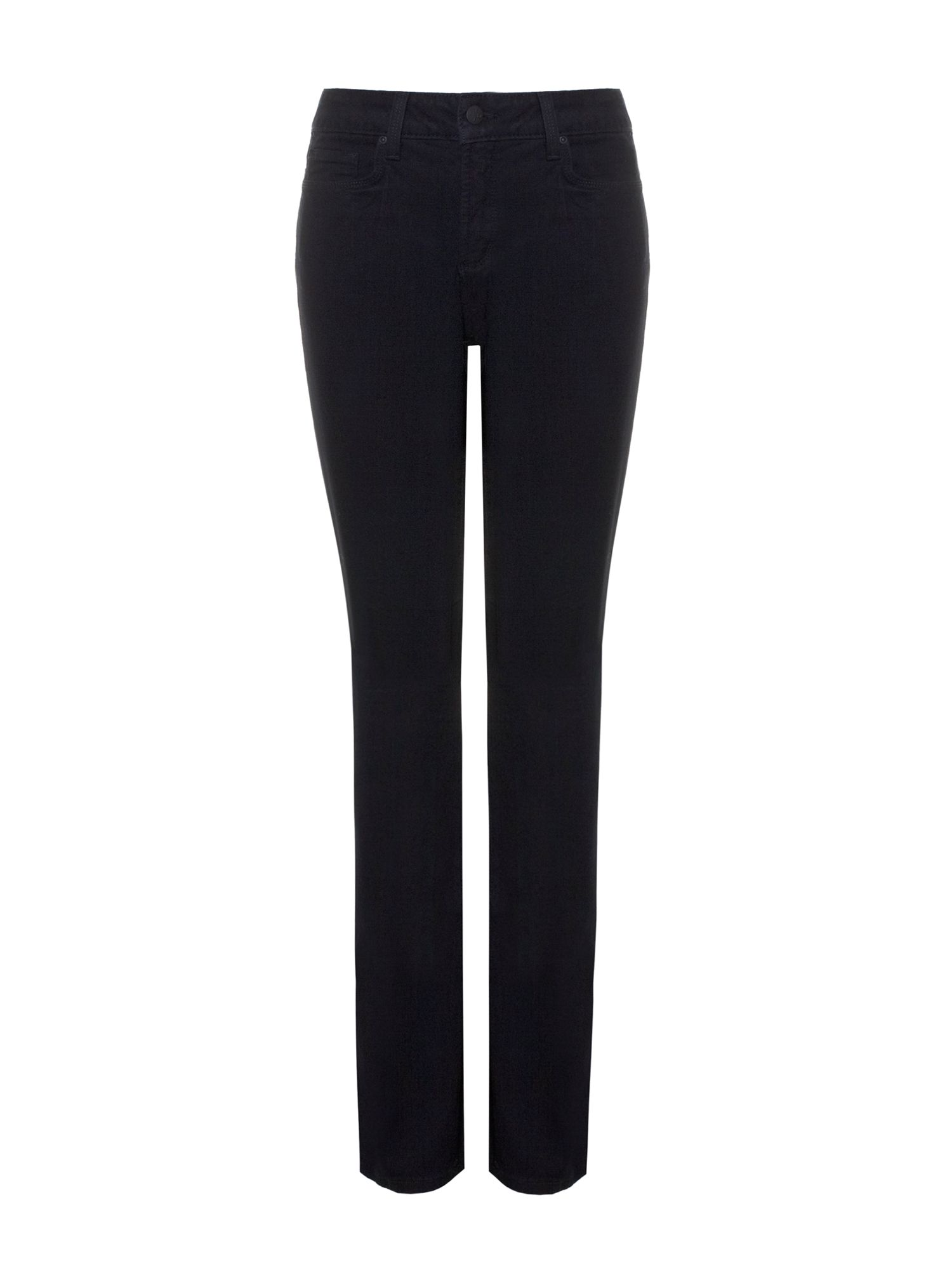 NYDJ Straight In Black Coloured Denim Petite Black