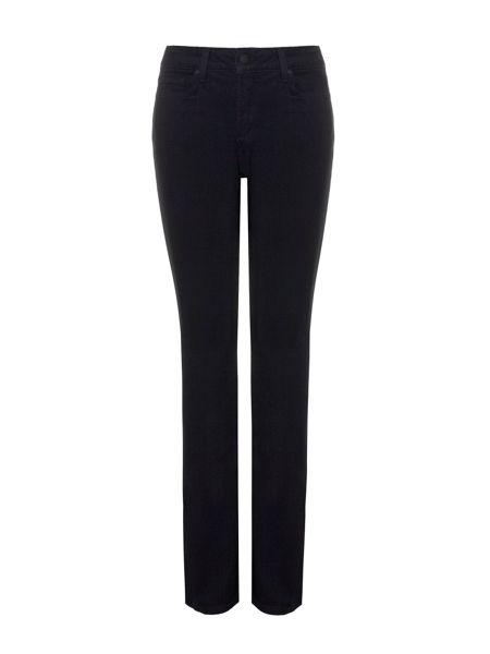 NYDJ Straight In Black Coloured Denim Petite