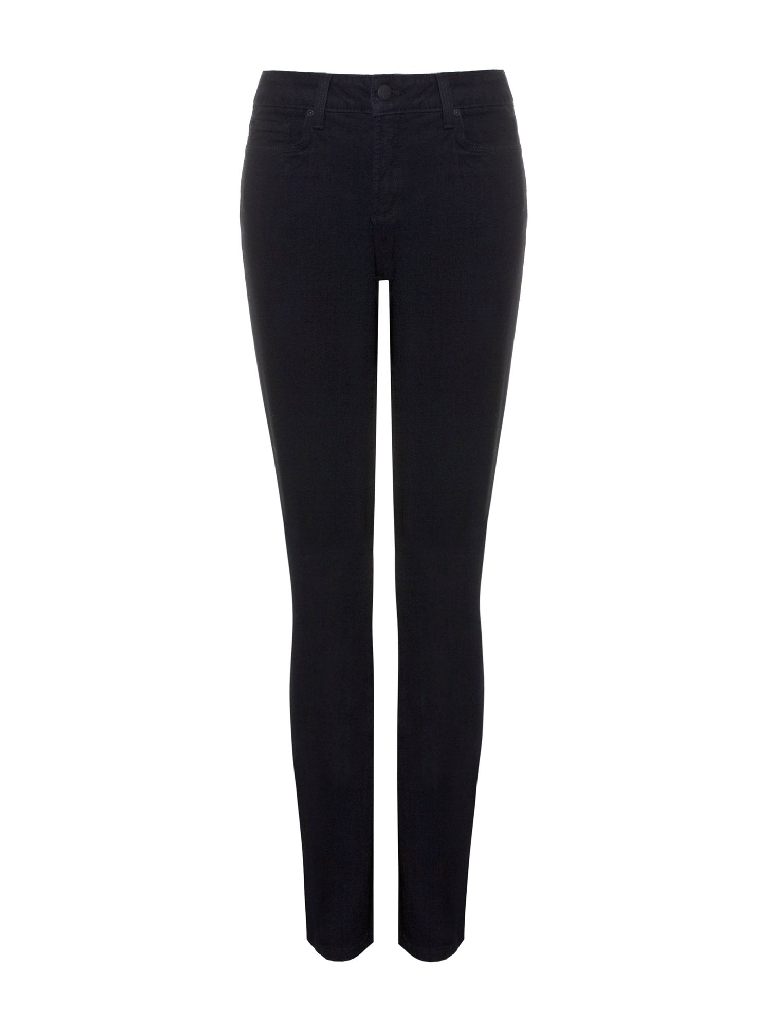 NYDJ Skinny In Black Coloured Denim Petite Black