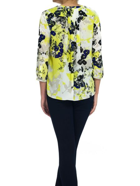 NYDJ Floral Print Blouse In Multi Colour