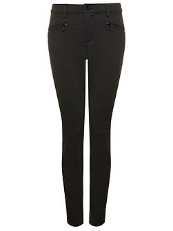 Legging With Zip Detail In Black