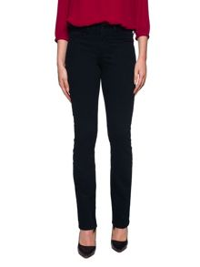 NYDJ NYDJ Marilyn Straight Denim In Black With Backpoc