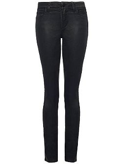 NYDJ Alina Legging In Dark Grey Matt Leather