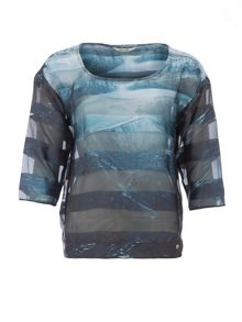 Garcia Waterfall Print Top