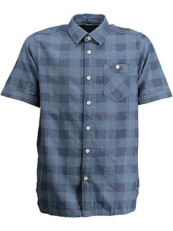 Boys Cotton Check Print Shirt