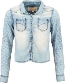 Girls Denim Cropped Shirt