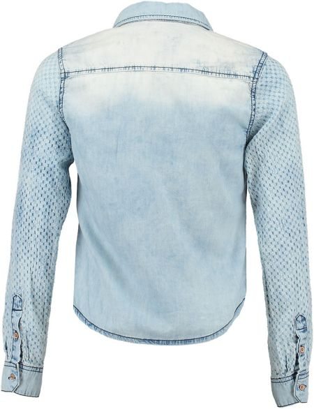 Garcia Girls Denim Cropped Shirt
