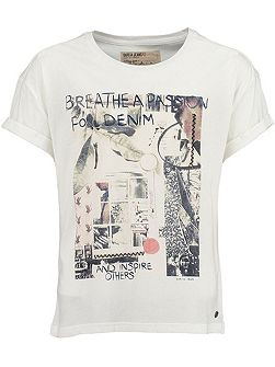 Girls Cotton Print T-Shirt