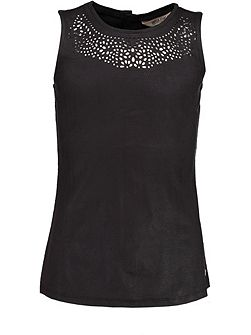 Girls Cutout Sleeveless Top