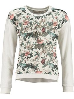 Girls Floral Print Sweater