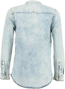 Boys Stonewash Denim Cotton Shirt