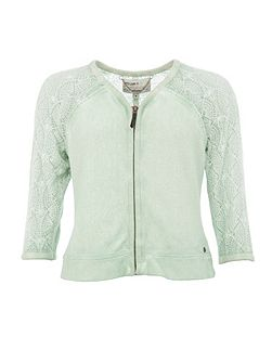 Cotton Jacket With Lace Sleeves