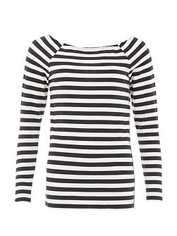 Stripe Top With Embellishing