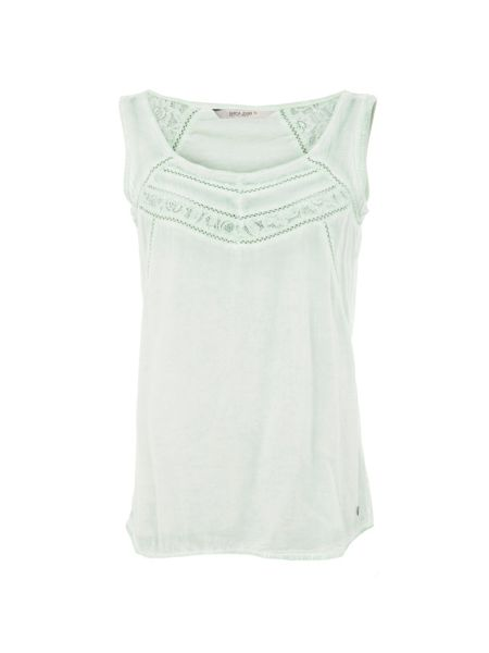 Garcia Cotton Top With Embroidery