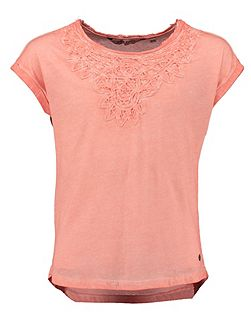 Girls Embroidered Cotton T-Shirt