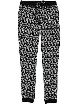 Girls Jeans Floral Jersey Trousers