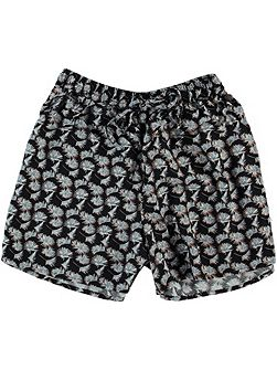 Girls Jeans Floral Shorts