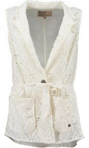 Garcia Crocheted Cotton Gilet