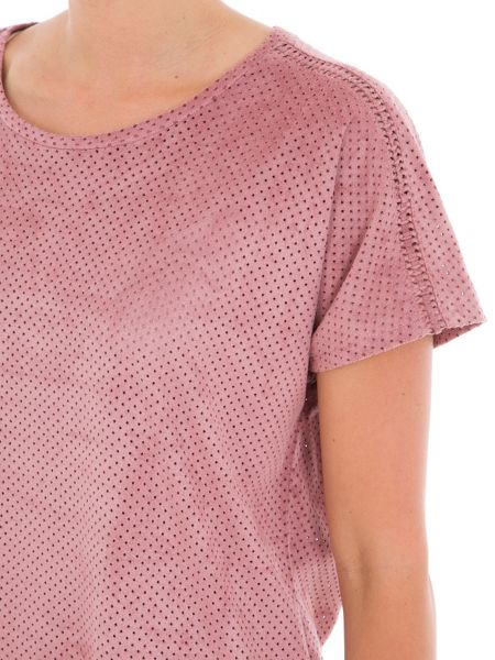 Garcia Faux Suede Perforated Top
