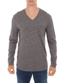 Garcia V-Neck Chest Pocket Cotton Top