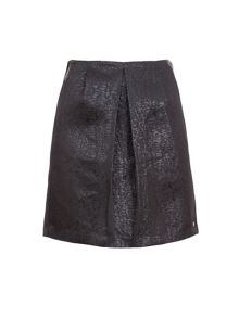 Garcia Pleated Mini Skirt With Metallic Finish