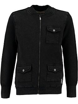 Boys Zip Up Pocket Cardigan