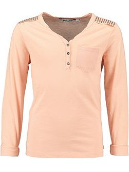 Girls Cotton Top With Studded Shoulders