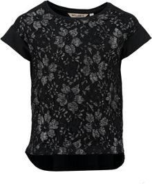 Garcia Girls Lace Cotton T-Shirt