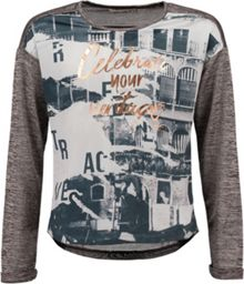 Garcia Girls Print Top With Contrasting Black