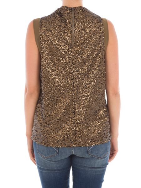 Garcia Sequined High Neck Top