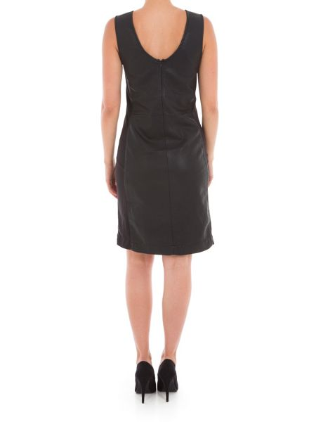 Garcia Faux Leather Shift Dress