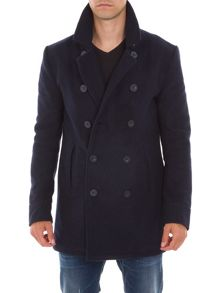 Garcia Wool Blend Double-Breasted Pea Coat