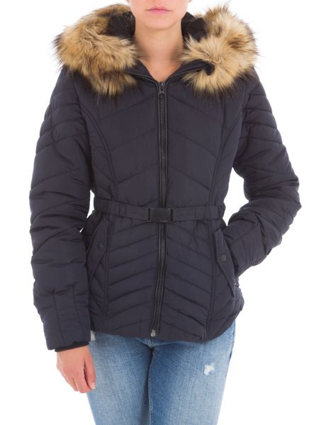 Garcia Quilted Jacket With Hood