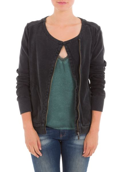 Garcia Zip Up Cotton Cardigan