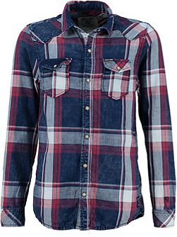 Boys Faded Check Cotton Shirt