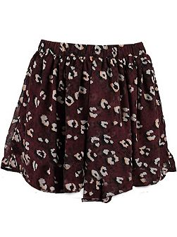 Girls Leopard Print Skirt