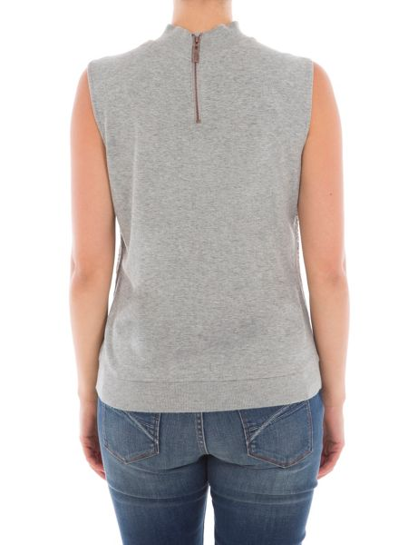 Garcia Sleeveless Roll Neck Jumper