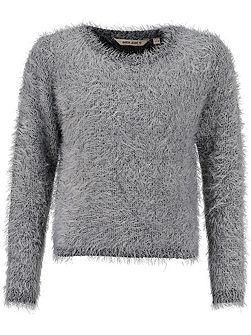 Girls Fluffy Jumper