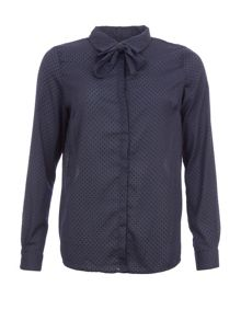Garcia Pussy Bow Dotted Shirt