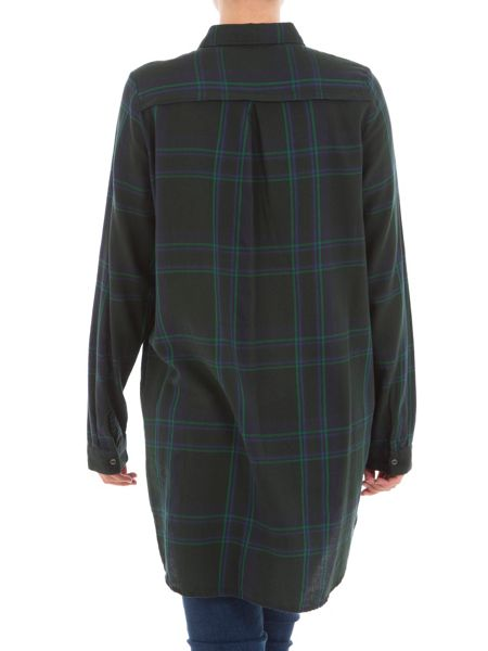 Garcia Oversized Check Cotton Shirt