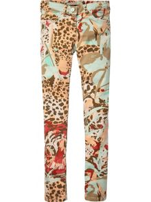 Girls allover printed 5 pocket pants
