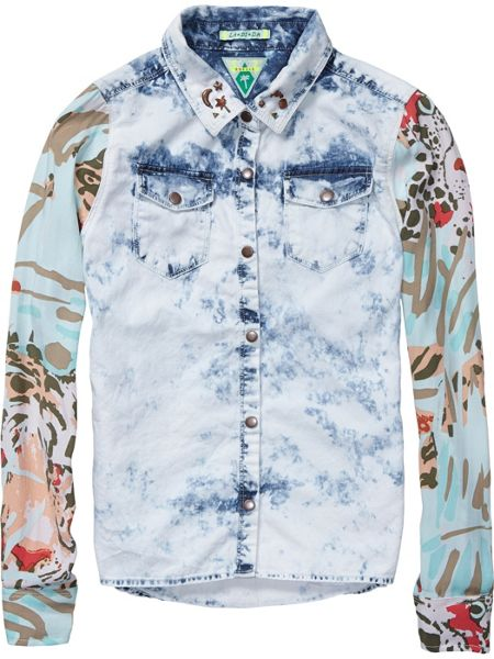 Scotch R'Belle Girls shirt with all over prints